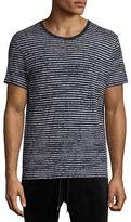 ATM Anthony Thomas Melillo Broken-Stripe Crewneck T-Shirt