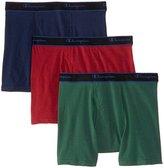 Champion Men's 3 Pack Performance Cotton Short Leg Boxer Briefs