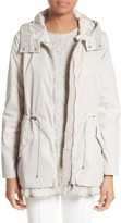 Moncler Women's Lotus Water Resistant Peplum Raincoat