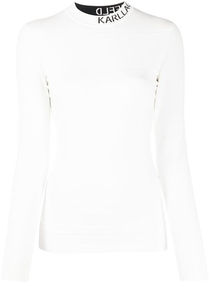 Karl Lagerfeld Paris Knitted Mock Neck Top