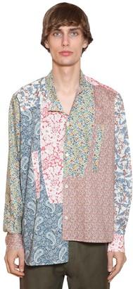Loewe Asymmetric Patchwork Cotton Poplin Shirt