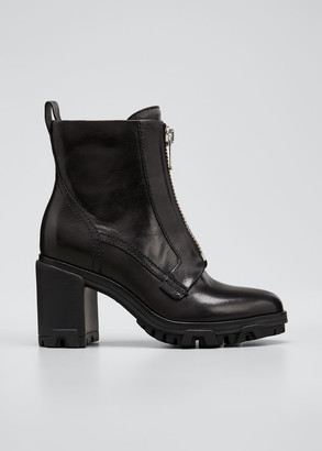 Rag & Bone Shiloh Leather Zip Ankle Booties
