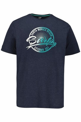 JP 1880 Men's Big & Tall T-Shirt Navy Melange X-Large 726636 78-XL