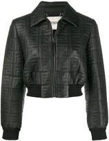 Fendi cropped logo embossed jacket