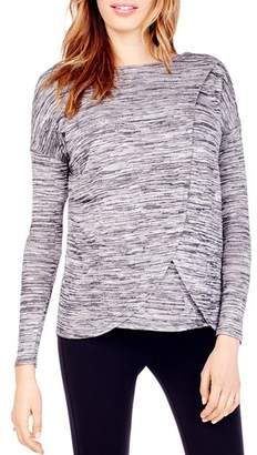 Ingrid & Isabel Maternity Space-Dyed Crossover Nursing Top