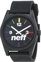 Neff Unisex Analogue Watch with multicolour Dial Analogue Display - NF0201-BKSPE-OS-FBA