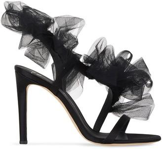 Giuseppe Zanotti Nausica tulle-strap satin sandals