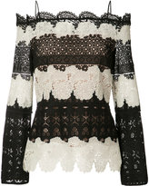 Yigal Azrouel off-shoulder lace blouse - women - Polyester - 8