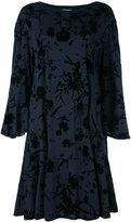 Dries Van Noten floral velvet smock dress
