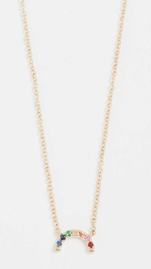 Ef Collection 14k Gold Rainbow Necklace
