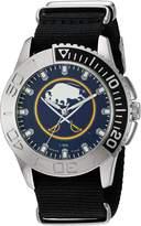 Game Time Men's NHL-STA-BUF Starter Analog Display Japanese Quartz Black Watch