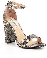 Steve Madden Carrson Snake Print Dress Sandals