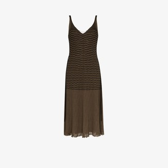 Chloé Striped Knit Midi Dress