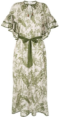 Zimmermann Empire palm-print cotton dress