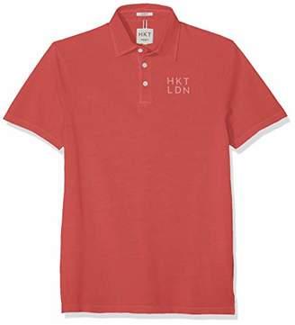 Hackett HKT by London Men's Hkt Jersey Ss Polo Shirt, Dusky Green 725), Medium
