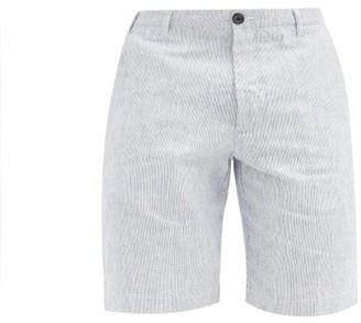 J.w.brine J.w. Brine - Chris Striped Cotton-linen Shorts - Blue