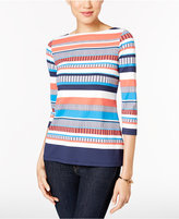 Charter Club Boat-Neck Striped Top, Only at Macy's