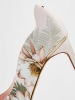 Ted Baker Erwiin Woodland Low Heel Court Shoe - Pale Pink