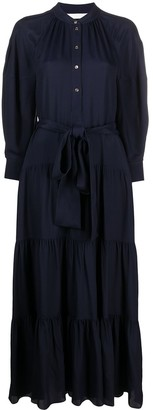 Chloé Long-Sleeved Silk Shirtdress