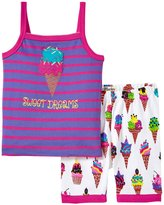 Hatley Ice Cream Tank PJ Set (Toddler/Kid) - Purple - 5