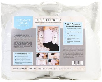 Ultimate Mum Pillows Pregnancy and Nursing Pillow The Butterfly Pillow Butterfly-Shaped