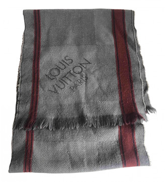 Louis Vuitton Grey Wool Scarves & pocket squares
