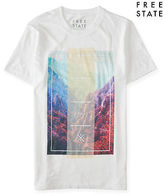Aeropostale Mens Free State Coast To Coast Graphic T Shirt White