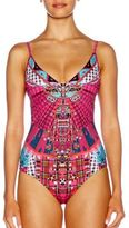 Camilla One-Piece Embellished Printed Swimsuit