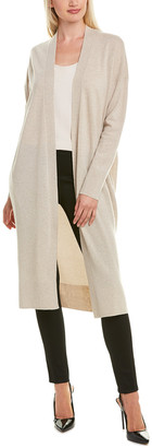 Lafayette 148 New York Long Wool & Cashmere-Blend Cardigan