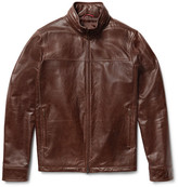 Isaia Washed-Leather Jacket
