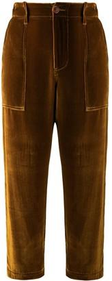 Jejia velvet cropped trousers