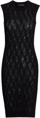 Versace Tattoo Sleeveless Knit Dress