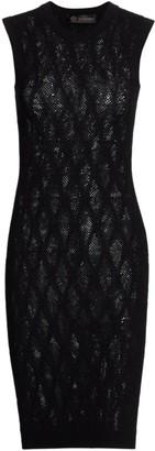 Versace Tattoo Sleeveless Knit Dress