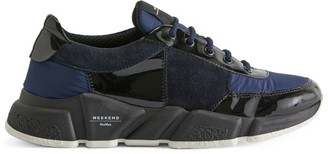 Max Mara Leather and Mesh Sneakers