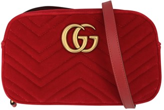 Gucci Marmont Red Velvet Clutch bags