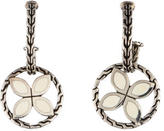 John Hardy Enamel Flower Drop Earrings
