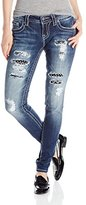 Miss Me Junior's Distressed Stud and Sequin Skinny Jean
