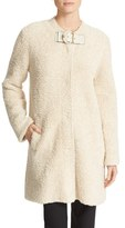 Tory Burch Women's Hibbert Buckle Tab Textured Coat