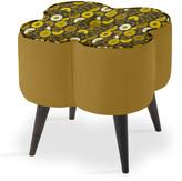 Thumbnail for your product : Orla Kiely Daisy Stool - Small - Bandon Gold/Cosmea Dijon