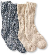 L.L. Bean Cotton Ragg Camp Socks,Two-Pack