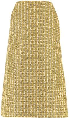 Balenciaga Kick Tweed Pencil Skirt