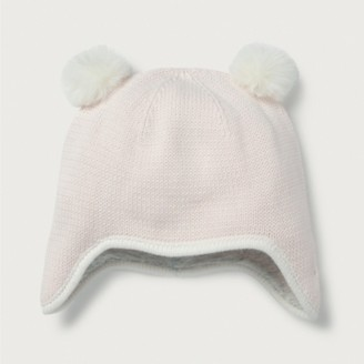 The White Company Pom-Pom Baby Hat, Pink, 0-6mths