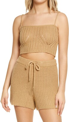4th & Reckless Henry Crop Wool Blend Camisole