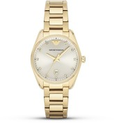 Emporio Armani Round Champagne Watch, 36mm