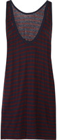 Alexander Wang Striped jersey mini dress