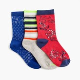 J.Crew Boys' patchwork socks three-pack