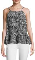 Tracy Reese Women's Easy Silk Printed Flounce Top