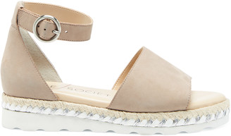 Sole Society Women's Verinna Sport Tred & Espadrille Sandals Sandstone Size 5 Leather From