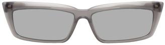 Balenciaga Grey Tip Rectangular Sunglasses