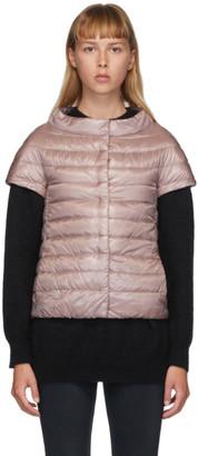 Herno Pink Down Emilia Cap Sleeve Jacket